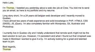 Cover Letter For A Web Developer