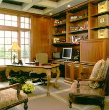 Rustic Computer Desk Home Office Traditional With Bookcase Bookshelves Built Ins Image By B W Interiors Chicago