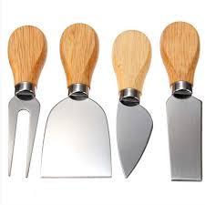 barde cuisine 1 set 4 pcs couteaux barde ensemble chêne poignée couteau à