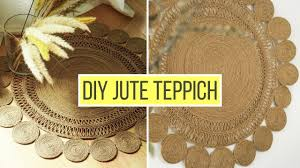 runden boho jute teppich selber machen diy wanddeko diy teppich aus seil jute oder sisal