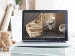 escalier 2 quart tournant leroy merlin configurer mon escalier longline droit et quart tournant