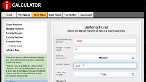 Sinking Fund Calculator Weekly by How To Make A Sinking Fund Calculation Icalculator Youtube