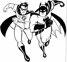 Robin And Batman Coloring Pages