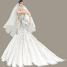 Designer Fantasy Sketches Kim Kardashians Wedding Gown