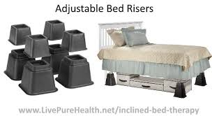 make your own bed risers home it adjustable bed risers set inch