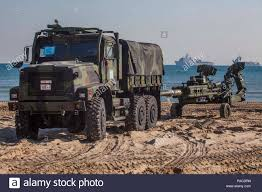 100 7 Ton Military Truck US Marines Use A Ton Truck To Tow An MA2 Lightweight