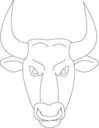 Bull Mask Coloring Page