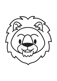Coloring Page Lion Head