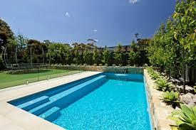 modern indoor pool small rectangular swimming backyard and garden
