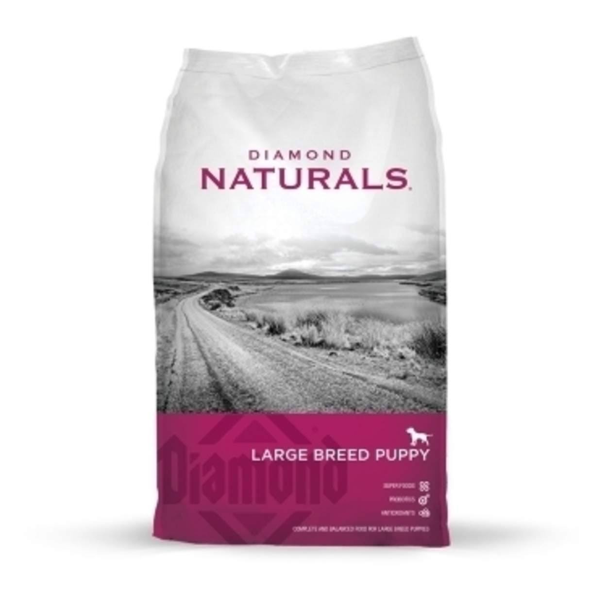 Diamond Naturals Large Breed Puppy Dry Dog Food - Lamb and Rice, 40lb