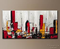 modern city abstract abstract wall paintings for sale