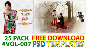 Free Download PSD Wedding Album Templates Or Background