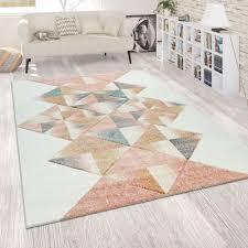pile rug abstract geometric multi coloured