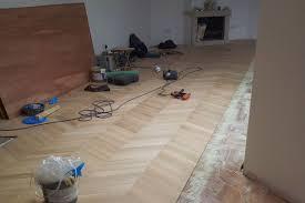 Wood Floor Installation Chevron Parquet