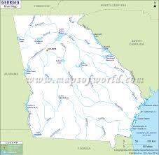 Georgia State River Map