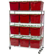 Storage Rack Wire Shelving With Plastic Bin Storage Kit Bin