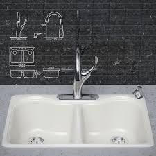 Kohler Hartland Sink Rack White by Kitchen Faucet And Sink Kohler 3d Cgtrader