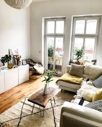 comfortably furnished bright living room in berlin living