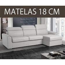 canap matelas canapé d angle réversible rapido imola matelas 18cm couchage 140cm
