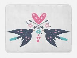 badematte plüsch badezimmer dekor matte mit rutschfester rückseite abakuhaus boho hippie romantische vögel floral kaufen otto