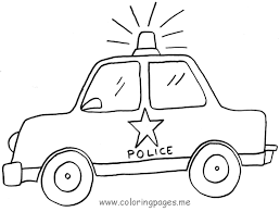 Showing Police Car Drawing Kids