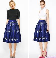 online get cheap print box pleated skirt aliexpress com alibaba