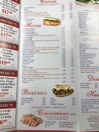 line Menu of Aroma Pizza & Grill Restaurant Abington
