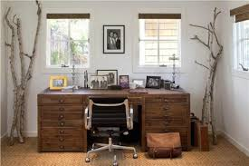 Trendy Home Offices That Are Surprisingly Functional Decor Advisor Rustic Office Accessories