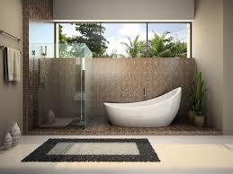 badezimmer wohnidee modernes bad mit ovaler badewanne dusche