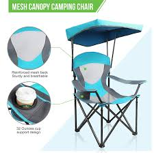 Alpha Camp Wholesale Folding Mesh Canopy Camping Chair