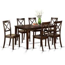 Shop Cappuccino Rubberwood 7-piece Formal Dining Room Set With ... Art Fniture Inc Saint Germain 7piece Double Pedestal Ding Laurel Foundry Modern Farmhouse Isabell 7 Piece Solid Wood Maracay Set Rectangular Ding Table 6 Chairs Vendor 5349 Lawson 116cd7gts Trestle Gathering Table With Hampton Bay Covina Alinum Outdoor Setasj2523nr Torence 7piece Counter Height 7pc I Shop Now Mangohome Liberty Lucca Formal Two And Hanover Rectangular Tiletop Monaco Splat Back Chairs By Grayson Ash Gray Wicker Round