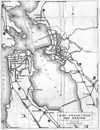 Detail Map For The San Francisco Bay Area On 1936 California Official Highway