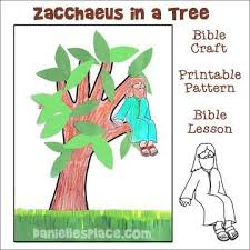 Zacchaeus In A Tree Bible Craft For Sunday School From Daniellesplace