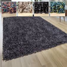 hochflor teppich shaggy grau beige blau rosa anthrazit wohnzimmer weich robust