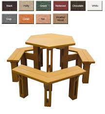 poly park hexagonal picnic table outdoor poly furniture
