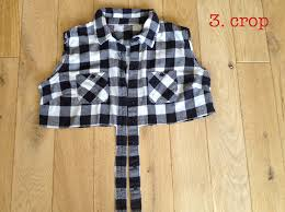 DIY cropped flannel shirt – By Hand London