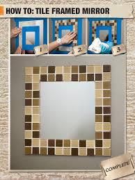 Mosaic Bathroom Mirror Diy by 80 Best Mirror Images On Pinterest Bathroom Ideas Mirror Ideas