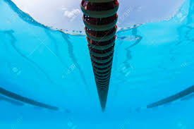 Swimming Pool Race Gala Lane Markers Underwater Abstract Stock
