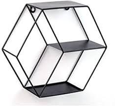 3 stk hexagon wandhalterung hexagon metall schwimmendes regal wand korb eisenregal metallregal im industrie stil wandregal für wohnzimmer schlafzimmer