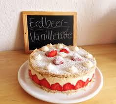 rezept erdbeer vanille torte kuchen torten kuchen und