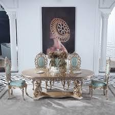 esszimmer möbel luxus italienischen antiken königlichen luxus esstisch massivholz geschnitzt gold abendessen tabelle 6 8 stühle
