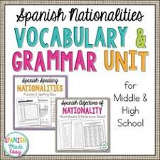 adjectives of nationality grammar activities