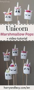 How To Make Easy Unicorn Marshmallow Pops