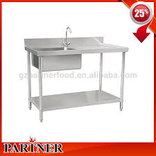stainless steel fish cleaning table with sink stainless steel