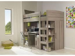 conforama chambre d enfant lit mezzanine 90x200 cm montana chêne gris vente de lit enfant
