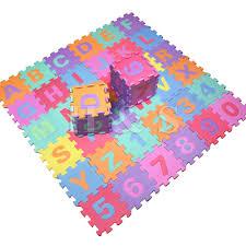 36pcs Soft EVA Foam Baby Children Kids Play Mat Alphabet Number