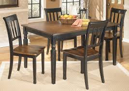 Owingsville Rectangular Dining Table W 4 Side ChairsSignature Design By Ashley