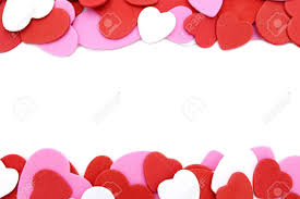 Double Border Textured Valentines Day Heart shaped Confetti