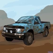 How To Draw A Pickup Truck, Pickup Truck, Step By Step, Trucks ...