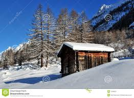 100 Log Cabins Switzerland Cabin In The Mountains In Winter Stock Image Image Of
